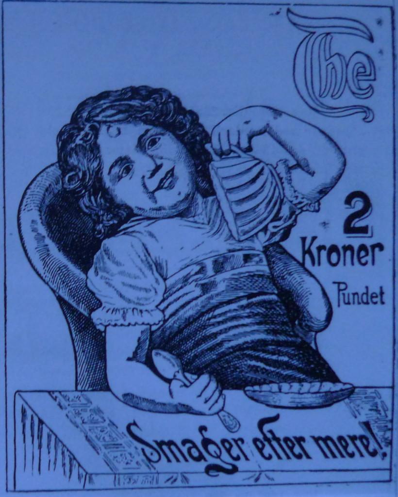 Her ses den varemærke beskyttede tegning som herefter optræder på en del af Medova thedåserne.