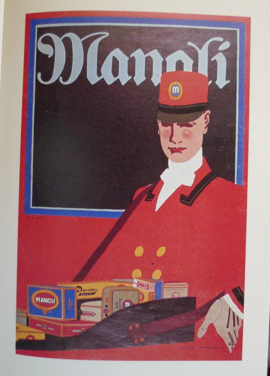 Tysk plakat af Hans Rudi Erdt af cigaretsælger fra ca 1910